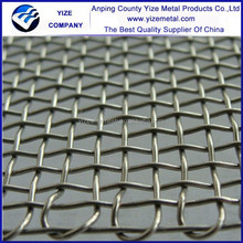 High quality cheap 304 stainless steel barbecue crimped wire mesh