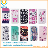 2016 New Fashion Beautiful Flower Owl Leather Wallet Cover Case For Apple iphone 5 5s SE 4 4s 6 6s 4.7 inch Bags