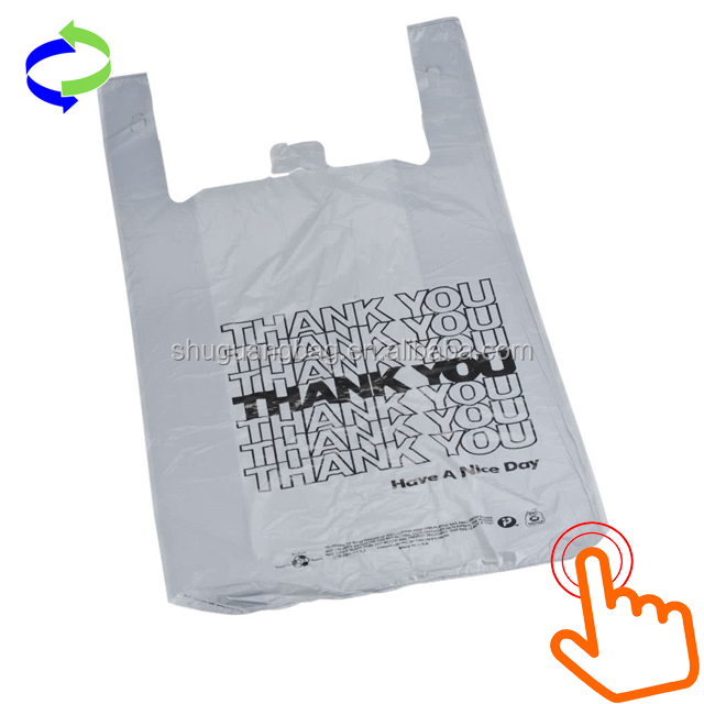 Wholesale Shopping Plastic T-Shirt Bag