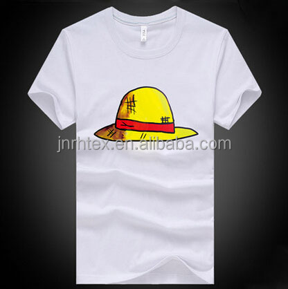 Funny cartoon print 70 cotton 30 polyester t-shirt wholesale