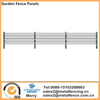 Dark Green Garden Fence Panels 6mx130cm High Iron Mesh Fencing with Post Security