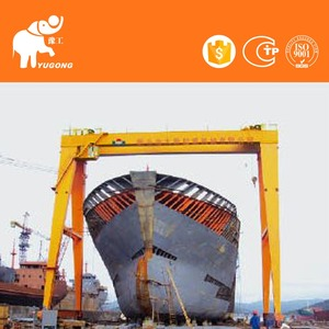 Heavy Duty 100ton 200ton Boat Lifting Gantry Crane With Cantilever For Sale