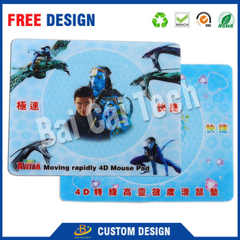 2016 factory price high quality waterproof PVC 3d custom gaming mouse pad