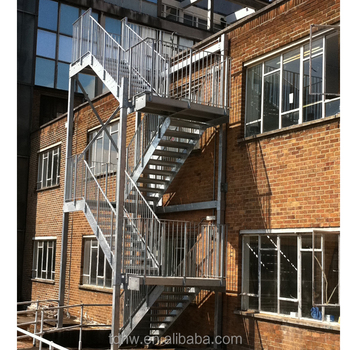 Outside Galvanized Steel Staircase Exterior Metal Stairs Buy Metal Outdoor