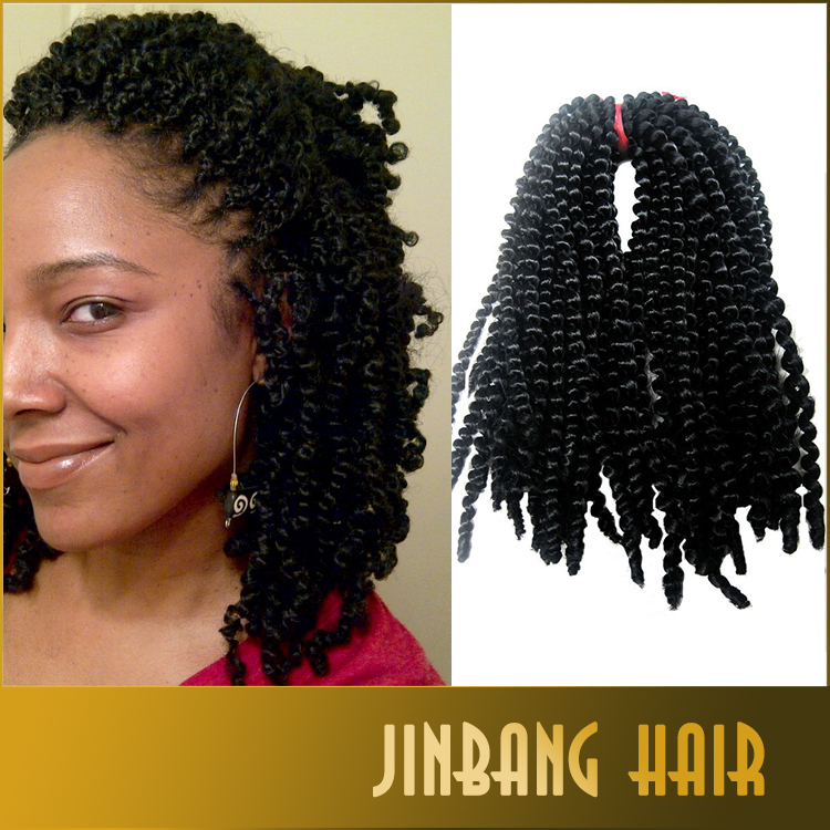 2016 Best selling nubian twist synthetic kinky hair extension black bomb hair