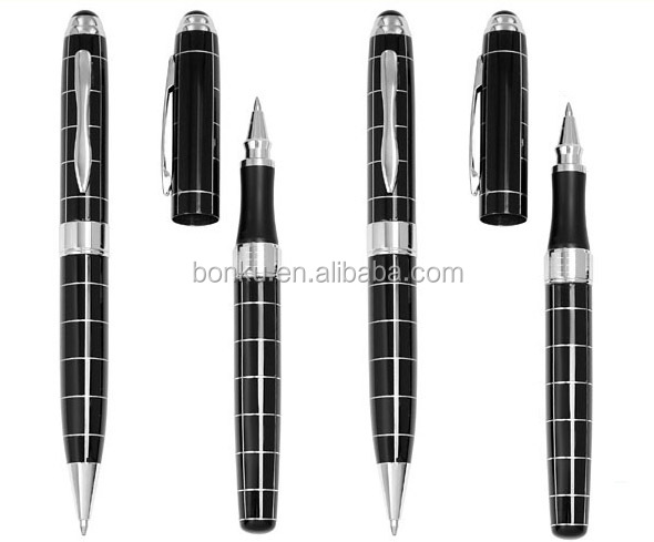 luxury lined business gift metal roller ink pen from yiwu manufacturer