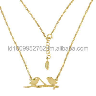 Necklace Lovebirds Gold Plated