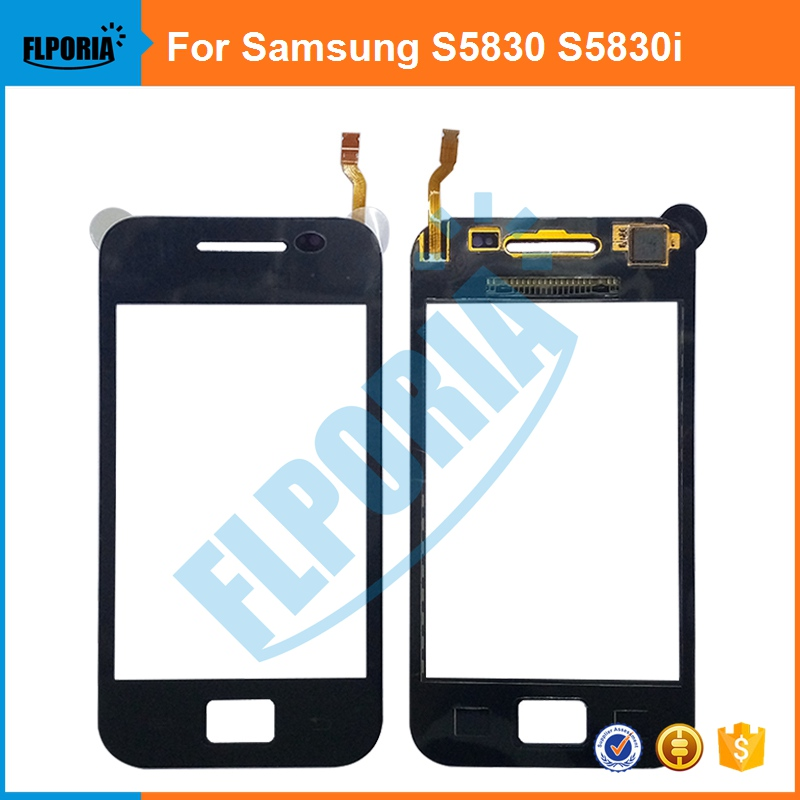 For Samsung Galaxy Ace S5830 S5830i GT-S5830 Original Touch Screen Digitizer Glass Touch Panel Front Glass Lens Sensor Flex Cabl