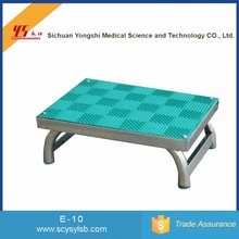 Alibaba Wholesale portable Stainless steel medical padded foot step stool