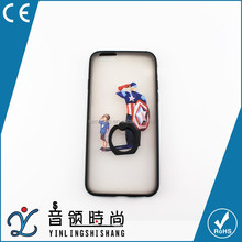 wholesale custom cheap universal mobile phone case with ring,cute cartoon tpu cell phone cases,back cover case for iphone 6