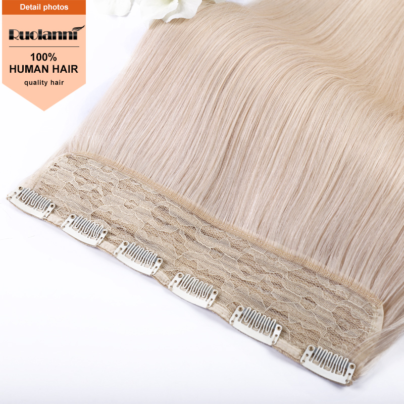 100 percent unprocessed brazilian human hair one piece clip in hair extensions