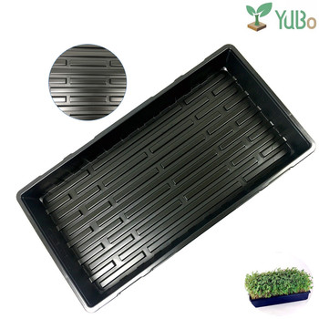 Competitive greenhouse plastic 1.8mm thickness barley fodder seed hydroponics germination tray without holes for plant