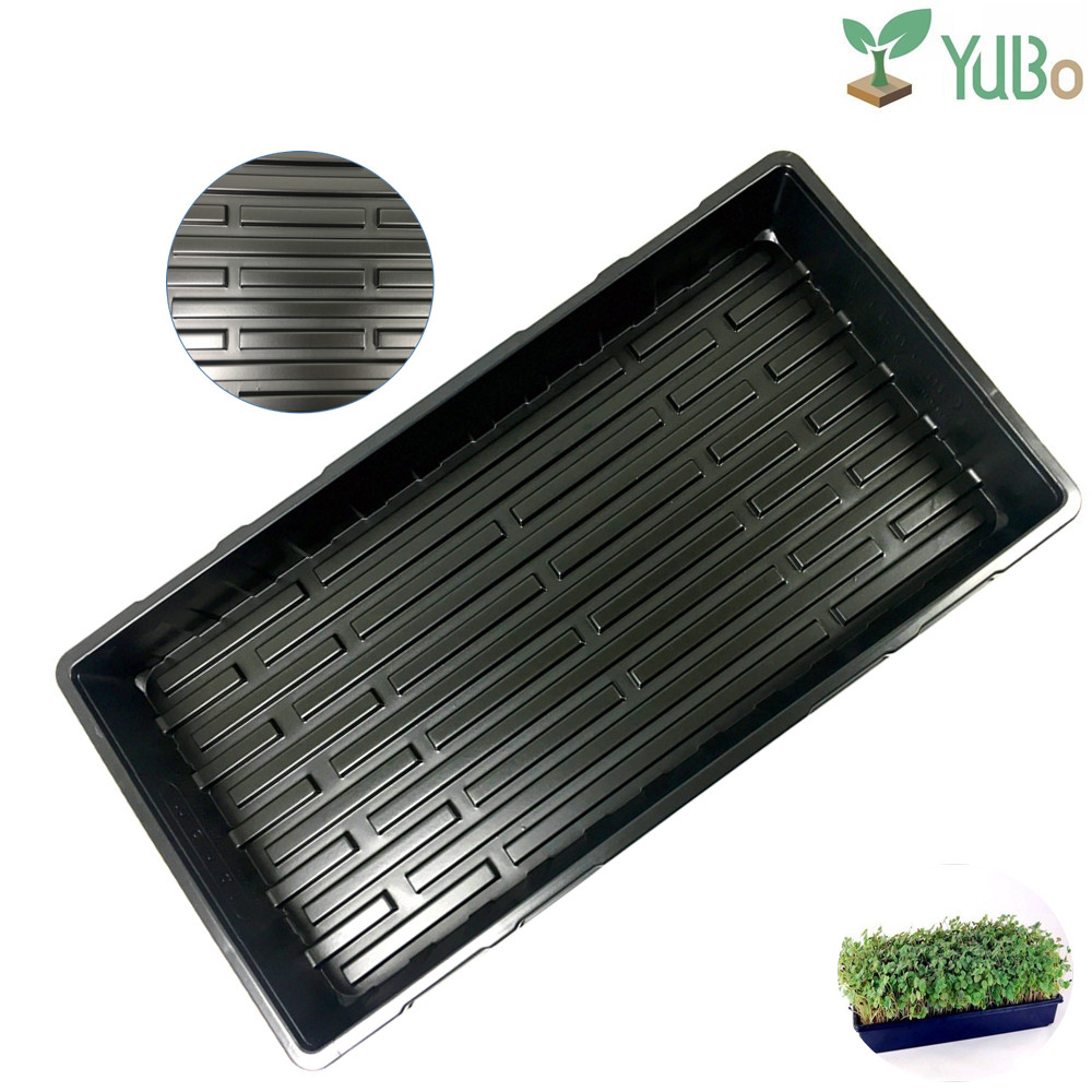 Competitive price plastic hydroponics barley fodder tray, greenhouse plant tray for planter