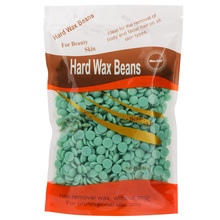 BLUEZOO Hot Wax Beans No Strip Film Hard Wax Pellet Waxing Face Bikini Hair Removal Bean