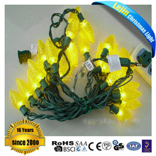 Diwali yellow c9 christmas light strings For wholesales party decoration