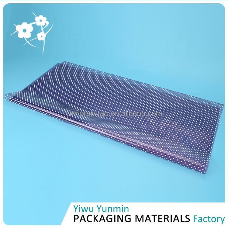 New selling unique design Crystal Fiberglass snow dot decorative floral paper packing