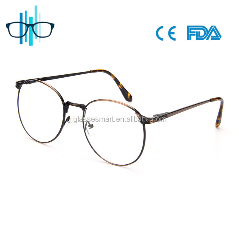 Classic metal frame optical special design eye glasses