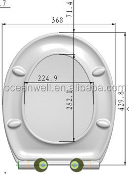 Universal shape toilet seat cover with soft close and quick release for your bathroom