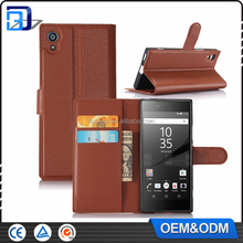 Newest Products Litchi Design Credit Card Wallet Stand Leather Flip Cover Case For Sony Xperia XA1 Mobile Phone Accessories