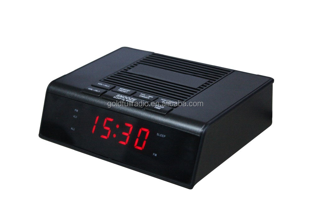 Classic Dongguan Wholesale Home /Hotel/Desktop Radio World Time Alarm Clock Digital
