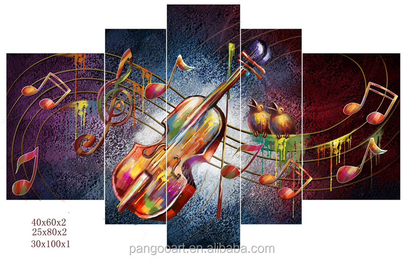Multi-Panel musical instrument Canvas Art Printing Printed Canvas Wall Art/Sea Sunrise Printed Canvas Painting