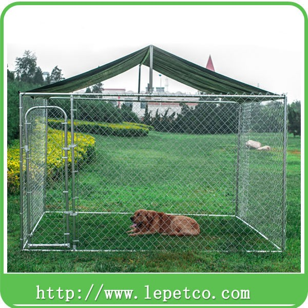 Factory direct Custom logo metal large outdoor galvanized iron dog cage