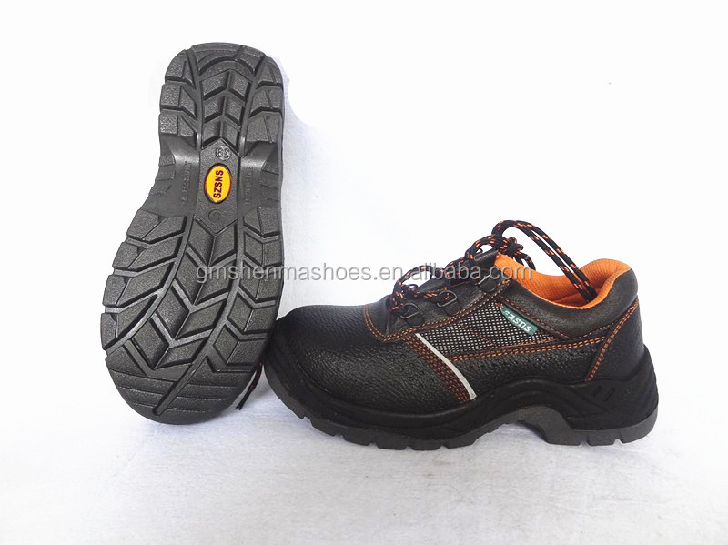 split smooth leather safety steel shoes, ESD work shoes ,SM166 leather goods footwear