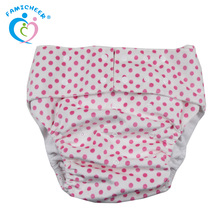 Famicheer Minky Reusable Big Size Waterproof Wholesale Diaper Pants Adult Baby Diaper