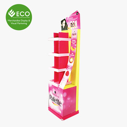 Makeup Mac Cosmetic Display Stand, Advertising Cardboard Display Stand