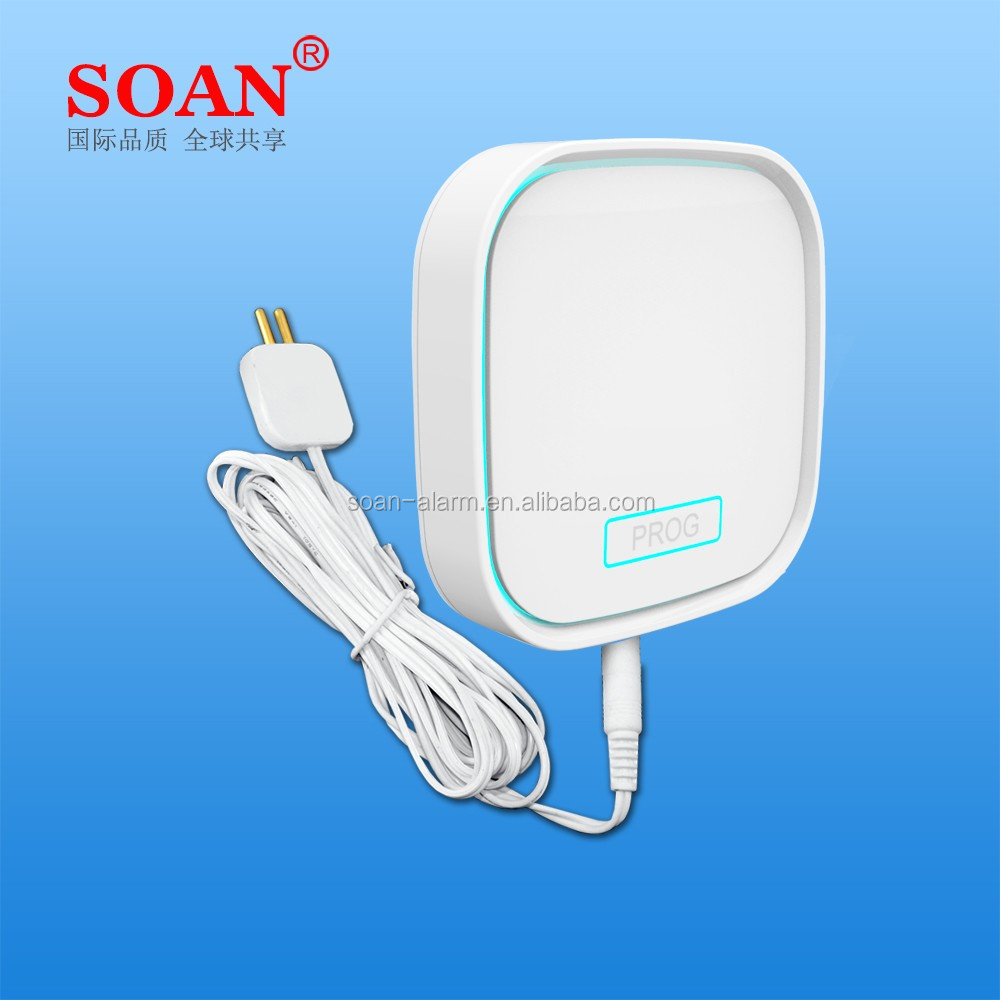 315/433mhz Wireless GSM Water Leak Alarm With Sensitive GSM Water Sensor Probe, Autodial and SMS when Water Leaking