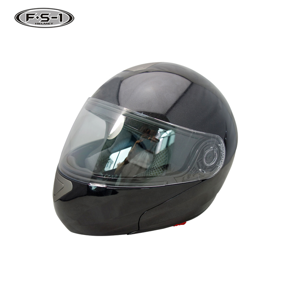 2017 Newest black color decal double visor DOT motorcycle helmet for sale