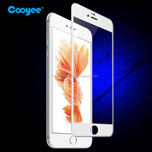 New Premium 3D Tempered Glass Full cover silk printing Screen Protector for iPhone 6/6s PLUS tempered glass guard
