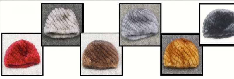 Mink Fur Knitted Hat