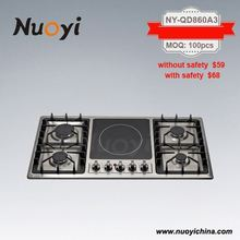 high quality SS panel electric cooker with gas burner solid element cooktop electric cooktops