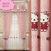 NEW Kitty cat children latest design curtain fabric/enfant curtains