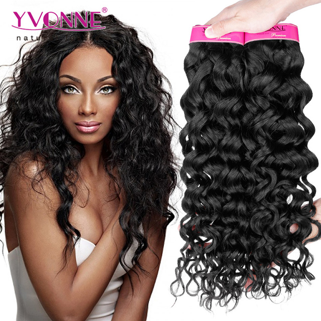 Yvonne Wholesale Top Quality 100% Unprocessed Raw Peruvian Hair Italy Curly Hair Weave