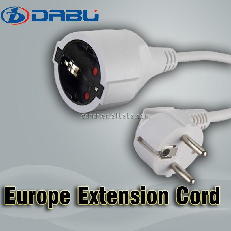 Home electrical european extension lead power cord