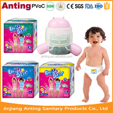 Disposable baby training pants, baby pull diaper ups, panty diaper
