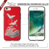 new products 2017 innovative product cheap star funky mobile phone case for iphone 6s embroidery wearproof and colorfast pu case