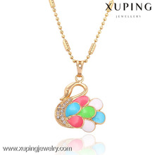32437-Xuping Special design colorful swan shape pendant jewelry