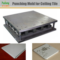 Stamping mould to make ceiling tiles corner cutting and sides bending