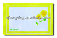 hot selling recycled sunflower printed pp placemat