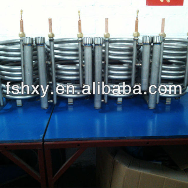 High anti-corrosion coaxial tube in tube titanium marine heat exchanger for sailing boat air conditioner