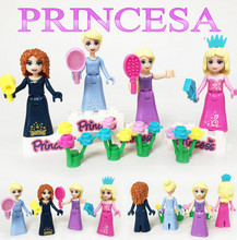 Princess Figure Large Particle Building Blocks Enlighten Toys Assemble Brick Compatible