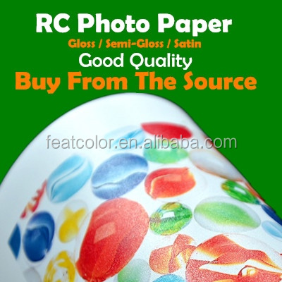 Waterproof Inkjet RC Satin Photo Paper Factory From China