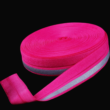 high visibility color fashionable glow reflective red white blue safety ribbon