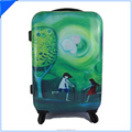 abs+PC full scenery girl print trolley luggage trolley for girls