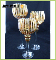 Beautiful and delicate happy birthday song glass candle holder wholesale
