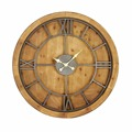 Wholesale high quality cheap gift metal wood promotional wall clock