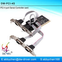 Latest design pci serial port card 4 port pci serial card with PCI 60806A chipset